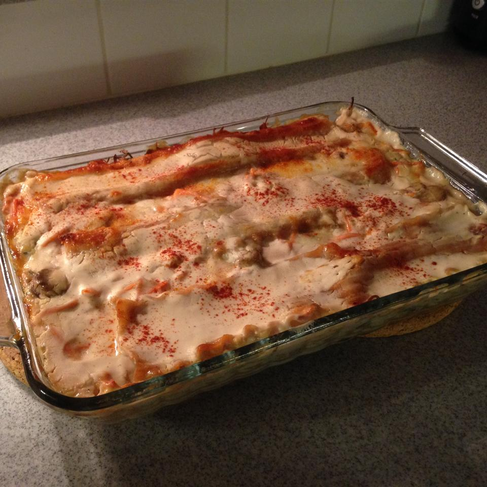 Easy Spinach Lasagna with White Sauce DonnaD