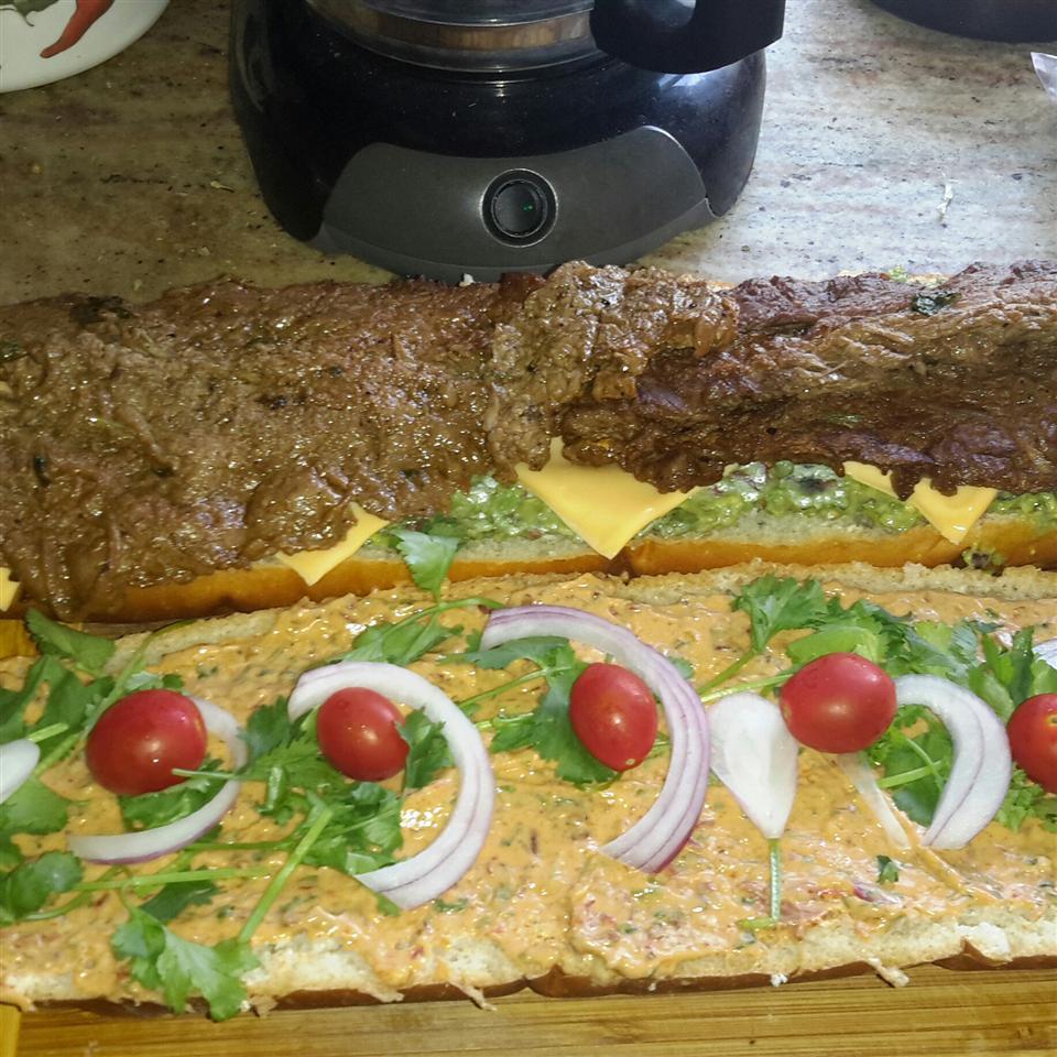 Carne Asada Sandwich Patty Cakes