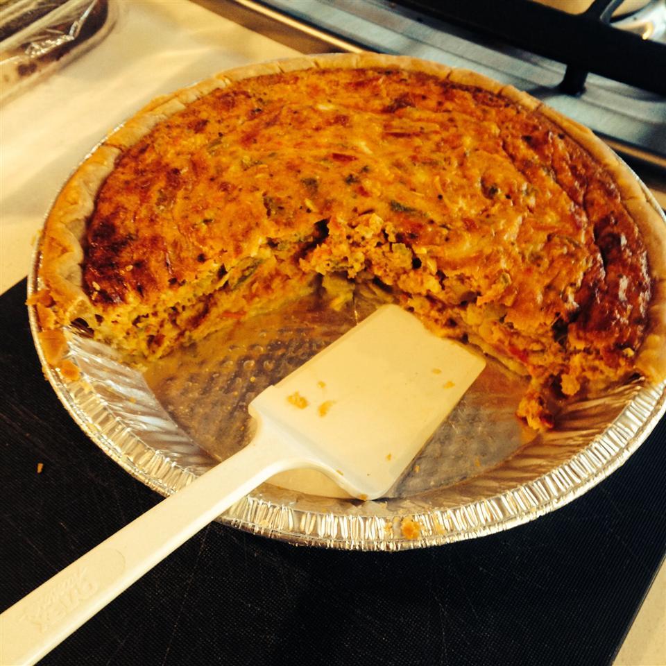 Zucchini Pie with Bacon Jennla