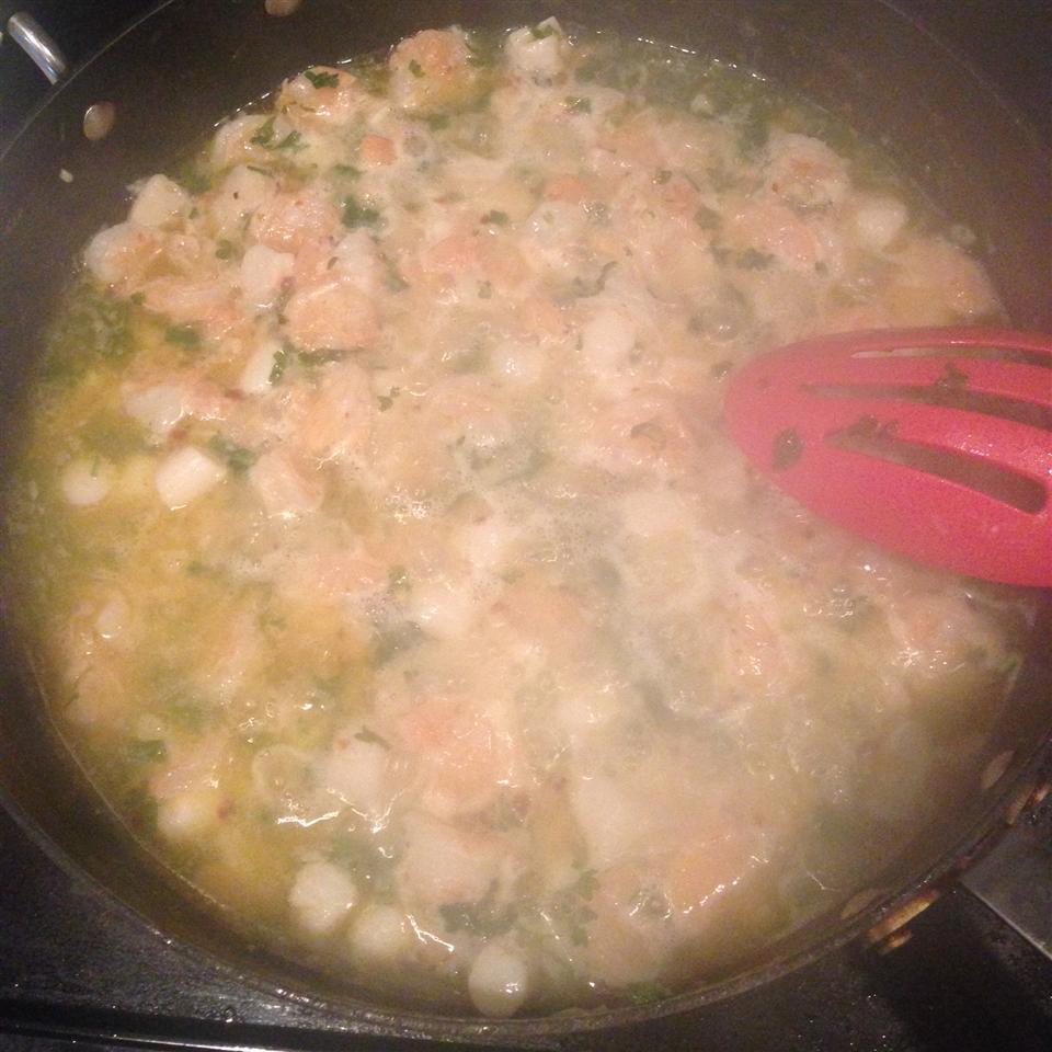 Lemony Garlic Shrimp with Pasta Dina