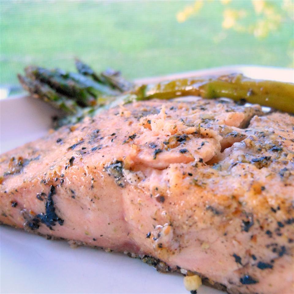 Grilled Dijon-Lemon Pepper Salmon