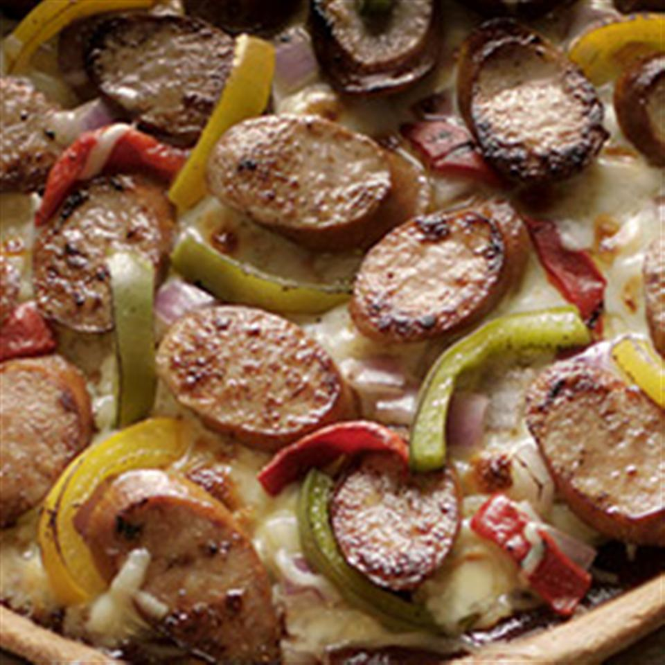 Barbecue Smoked Sausage Pizza