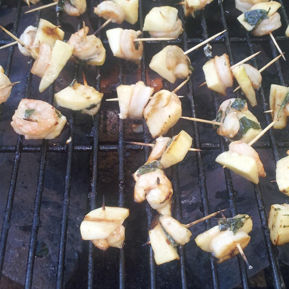 Grilled Shrimp and Apple Skewers sonya