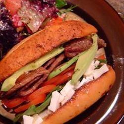 Kings Flat Iron Steak Sandwich Jackie B.
