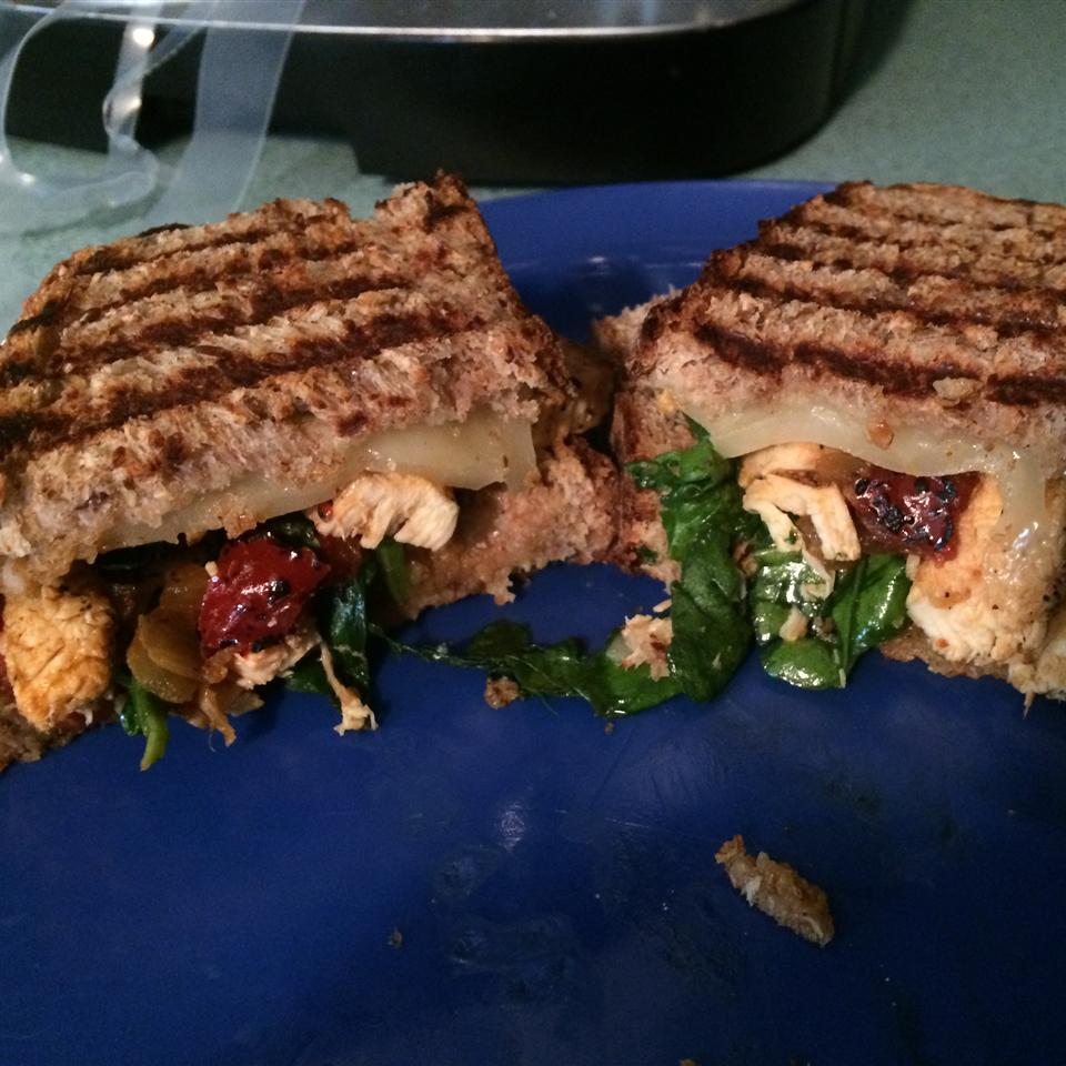 Healthy Chicken and Spinach Panini