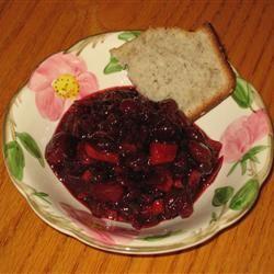 Cranberry, Apple, and Fresh Ginger Chutney