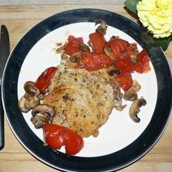 Roasted Pork Chops with Tomatoes, Mushrooms, and Garlic Sauce SUSHMONGER