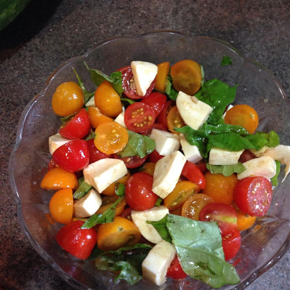 Smiling Caprese Salad Tricia-at-home