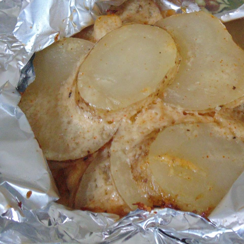 Grilled Onions and Potatoes Christina