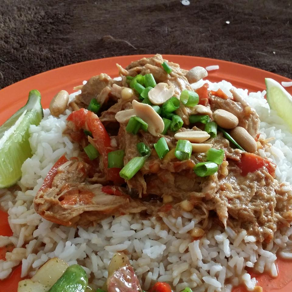 Slow Cooker Thai Peanut Pork Kelsey Klein