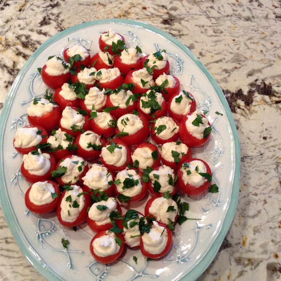 Creamy Shrimp Stuffed Cherry Tomatoes Patty Lawrence