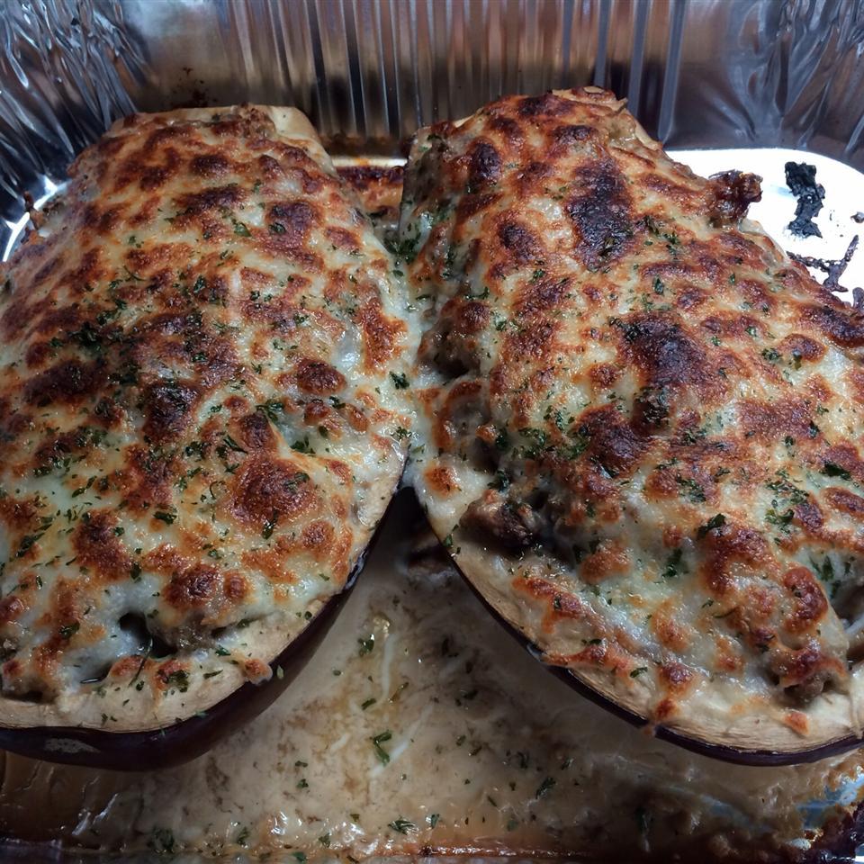 Sausage-Stuffed Eggplant