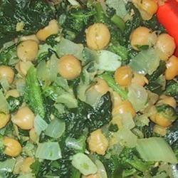Espinacas con Garbanzos (Spinach with Garbanzo Beans) sueb
