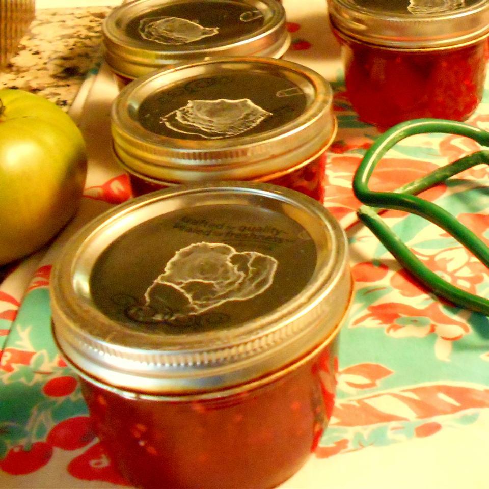 Green Tomato Raspberry Jam ONIOND