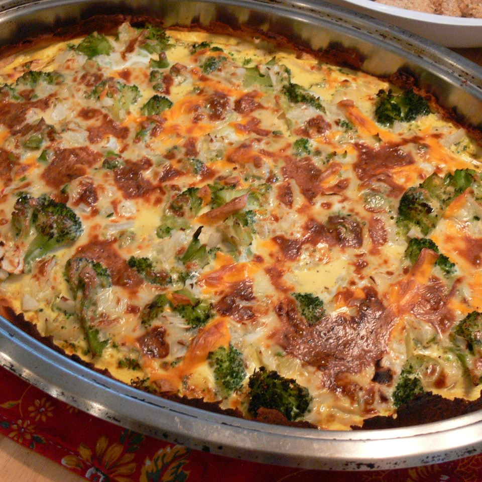 Broccoli Quiche with Mashed Potato Crust LUMINARA