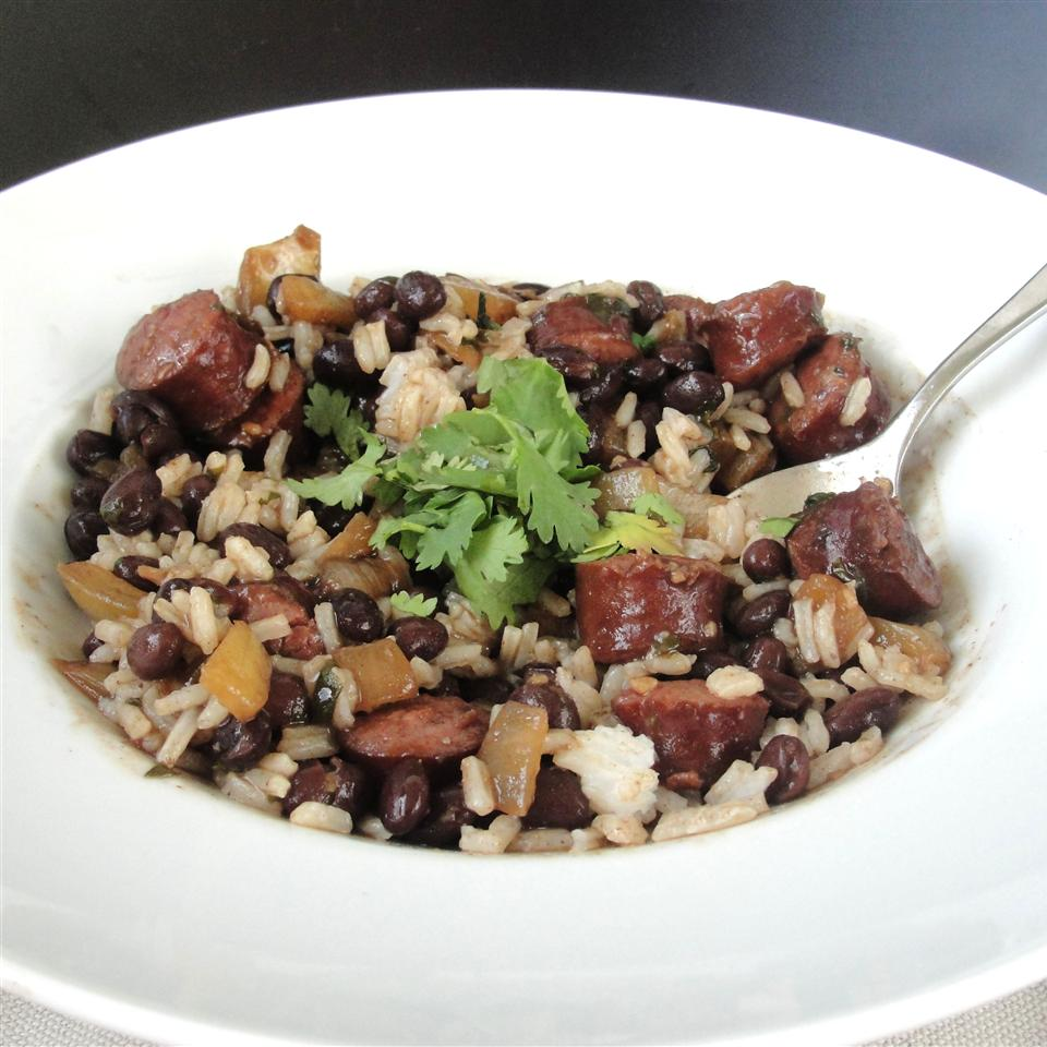 Quick and Easy Black Beans and Rice Rock_lobster