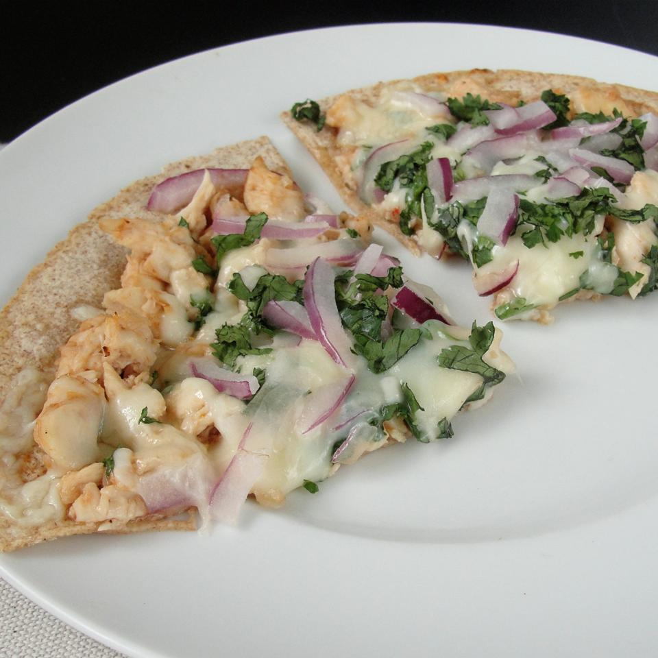 BBQ Chicken Tortilla Pizza Rock_lobster