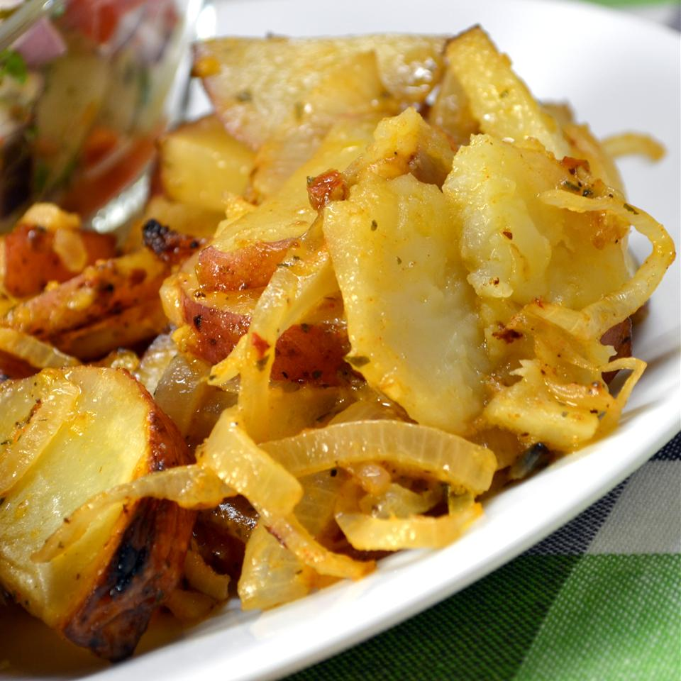 Grilled Onions and Potatoes