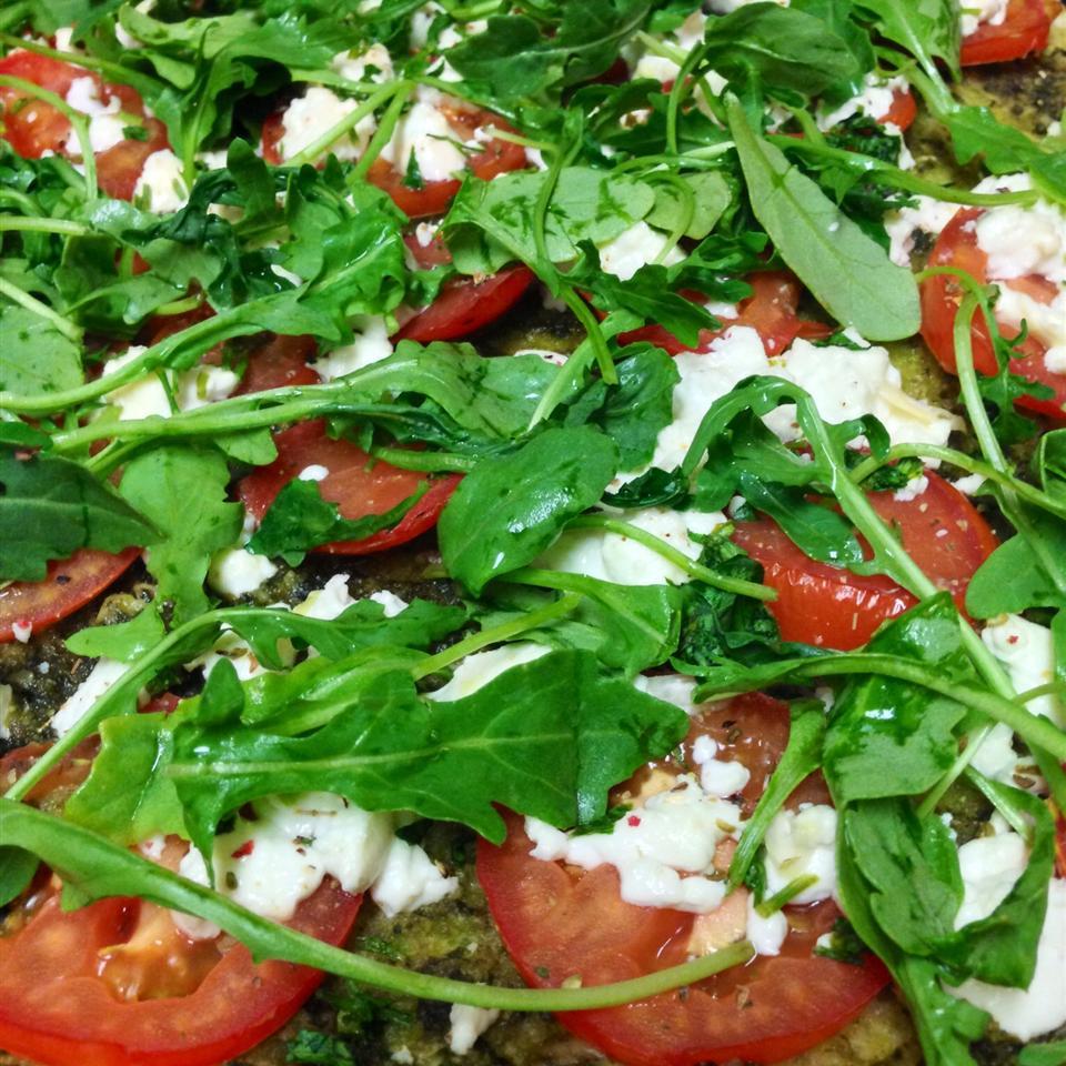 Goat Cheese Arugula Pizza - No Red Sauce! Josephine Roeper