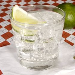 """Simple and sublime. Here on Earth, we refer to this kind mixture of gin, tonic, and lime juice as Gin and Tonic (or G&T). Galactic travelers, and fans of Mr. Adams, may refer to it as """"jynnan tonnyx, or gee-N'N-T'N-ix, or jinond-o-nicks,"""" etc. Nothing is more refreshing. True fanatics of the G&T should try making their own homemade tonic."""