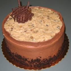 Non-Dairy Chocolate Cake with German Chocolate Frosting Karena