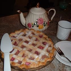 Pineapple Rhubarb Pie