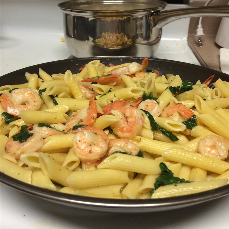 Lemon Pepper Pasta with Shrimp