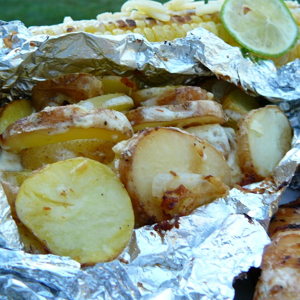 Grilled Onions and Potatoes Molly