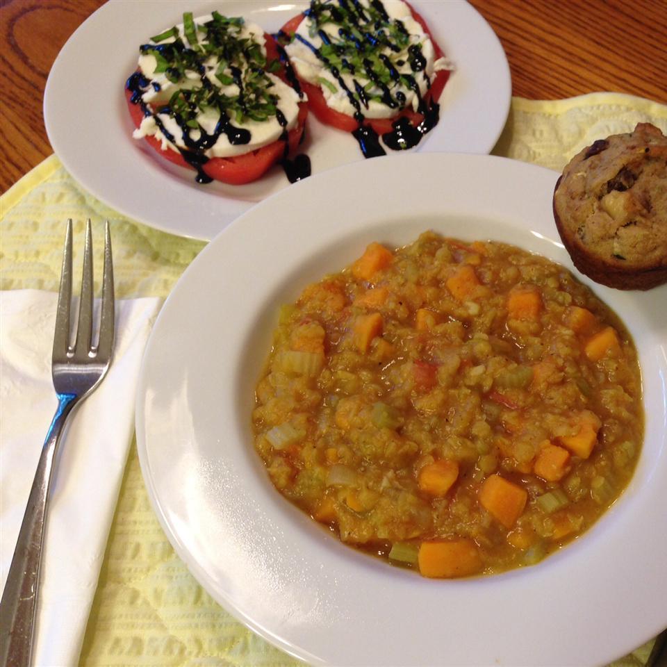 Tomato-Curry Lentil Stew KarenPChappell