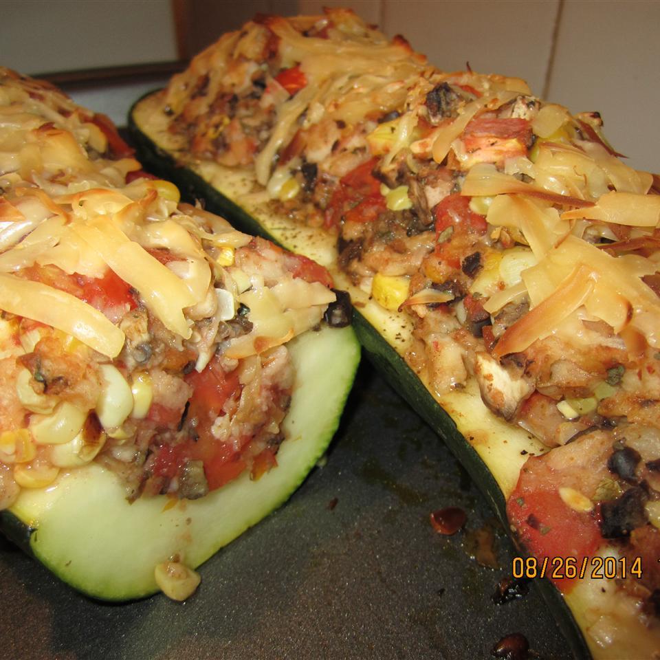 Italian-Style Stuffed Zucchini  (Kid-Friendly) BrewCrew