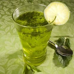 For the teetotalers and the wee ones, here's a refreshing minty green treat.                                   Add a shot of non-alcoholic Irish Wisdom: There is no luck except where there is discipline.