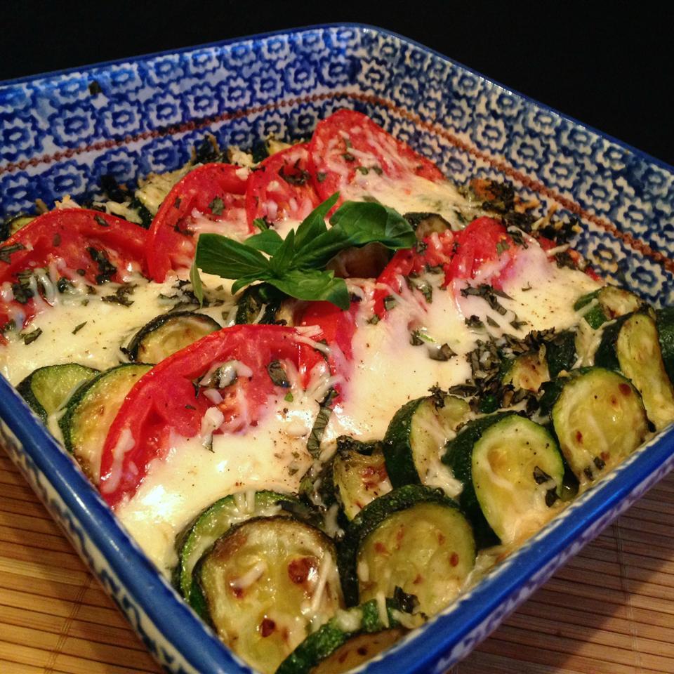 Zucchini e Pomodori Gratinati (Zucchini and Tomato Gratin) Swiss Phil