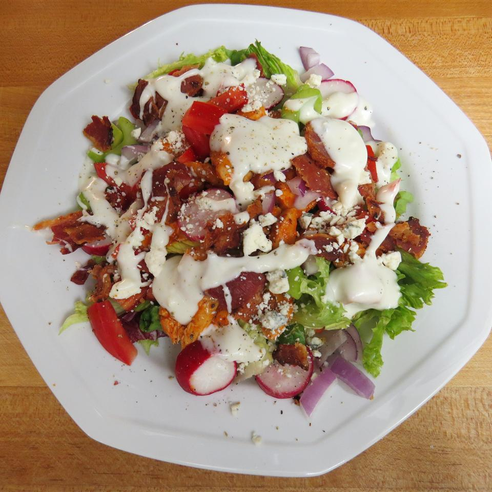 Buffalo Chicken Salad with Bacon and Blue Cheese