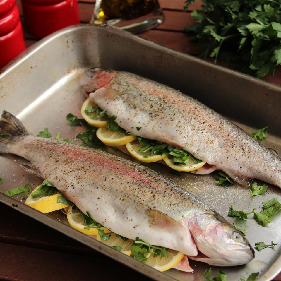Baked Fresh Rainbow Trout Recipe Allrecipes