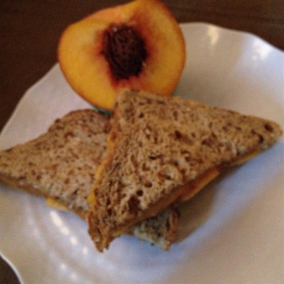 Summertime Almond Butter and Peach Sandwich gammaray (=