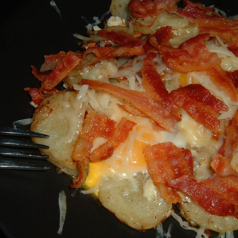 Cheesy Fried Potatoes Caroline C