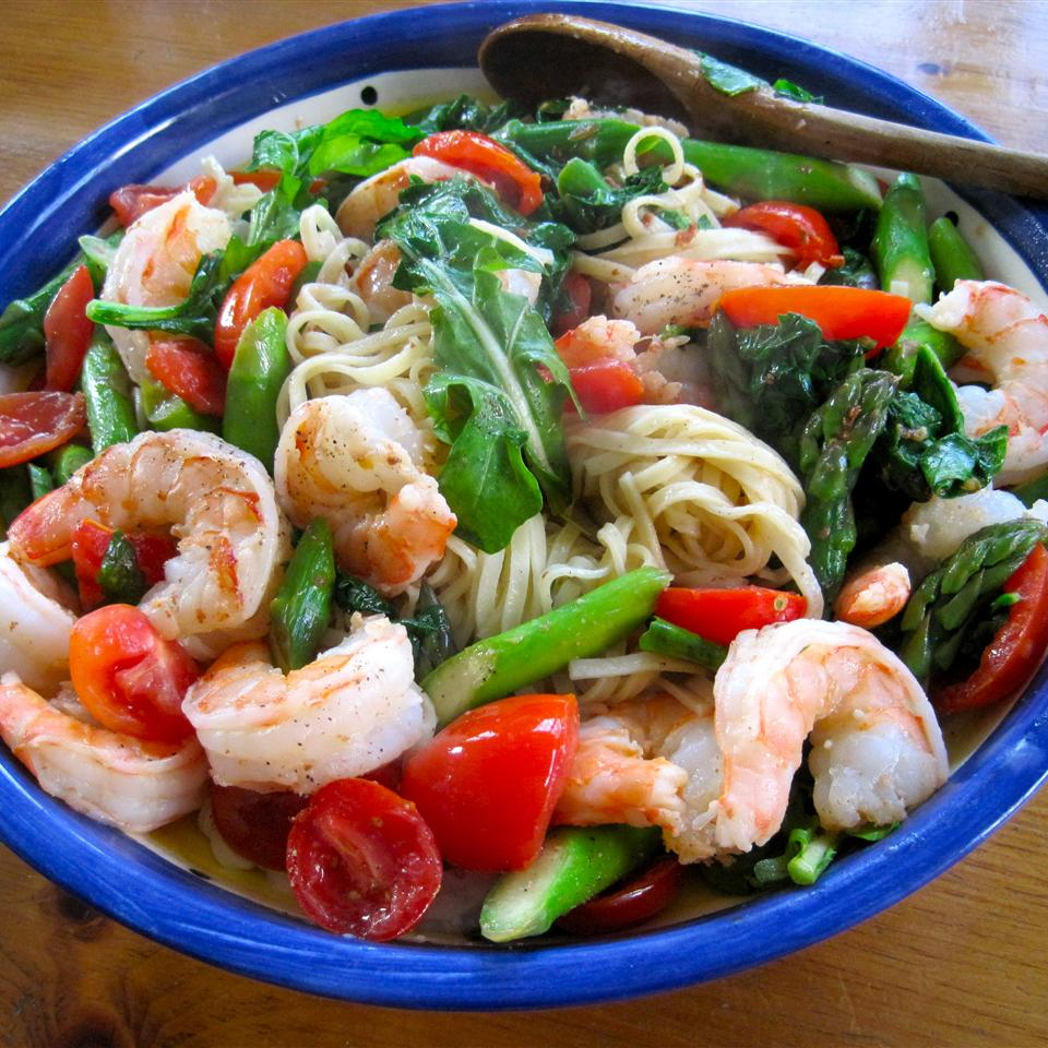 Creamy Shrimp Pasta Primavera