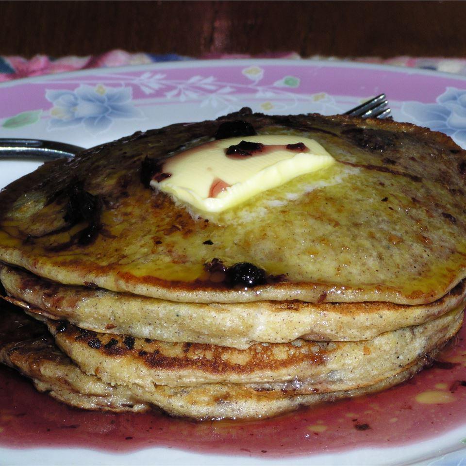 Blueberry Cornmeal Pancakes Gilda George