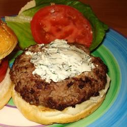 Summer Feta Burger with Gourmet Cheese Spread Gracey