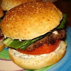 Summer Feta Burger with Gourmet Cheese Spread Charles