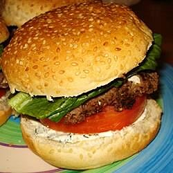 summer feta burger with gourmet cheese spread recipe