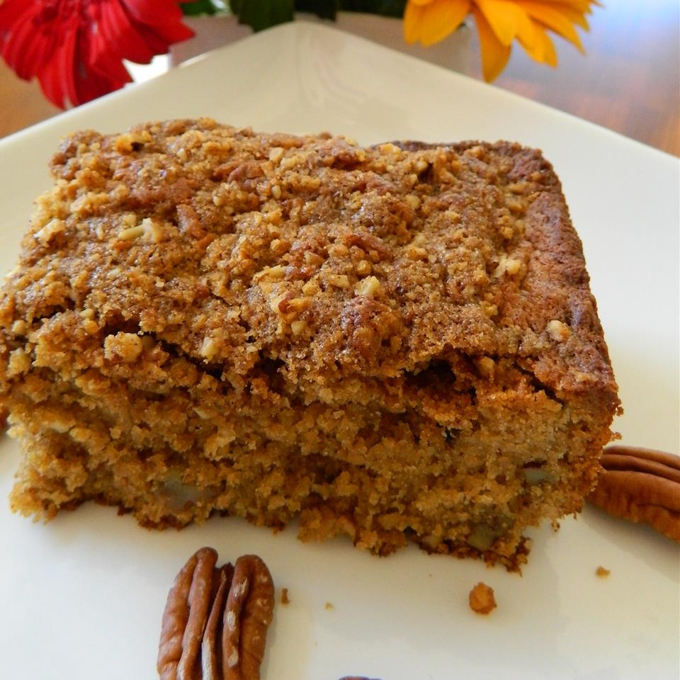 """If you're out of flour you can still make a coffee cake using a baking mix like Bisquick. This recipe has plenty of pecans, graham cracker streusel and is flavored with instant coffee. Recipe reviewer Ernie says, """"I doubled the topping and it is everyone s new favorite cake."""""""