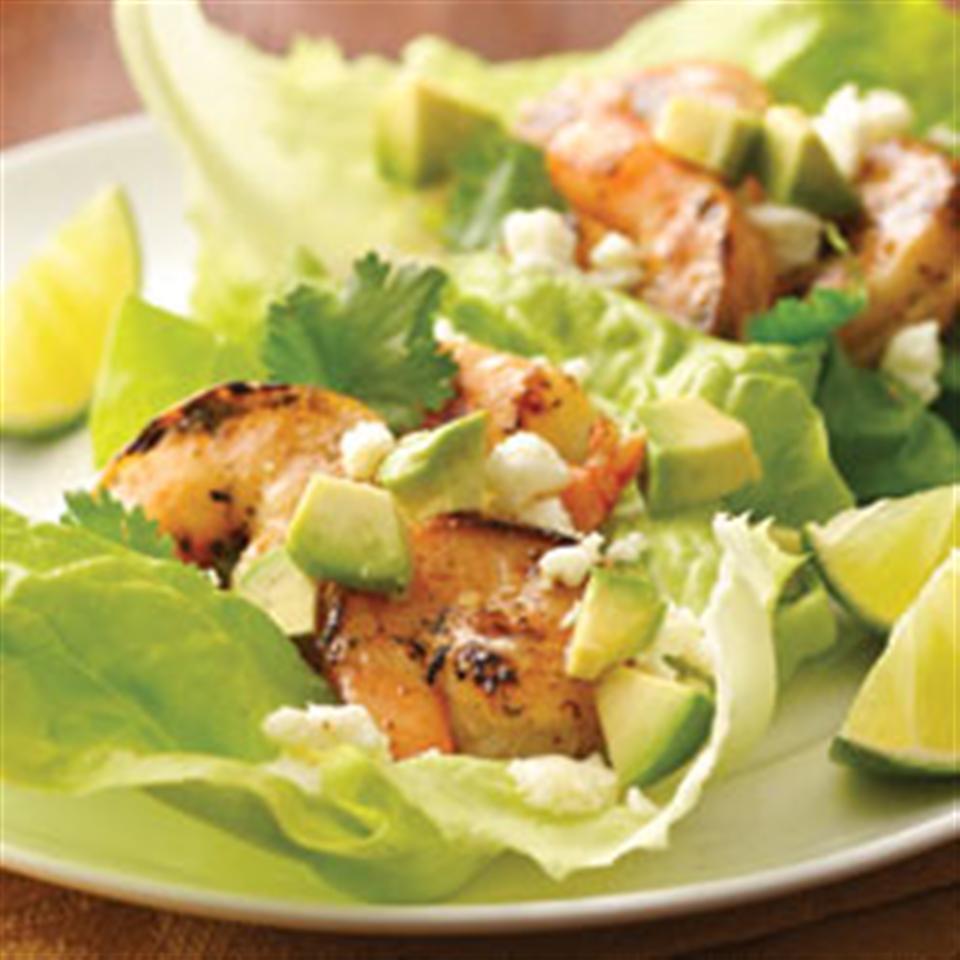 Mojito Shrimp Lettuce Wraps