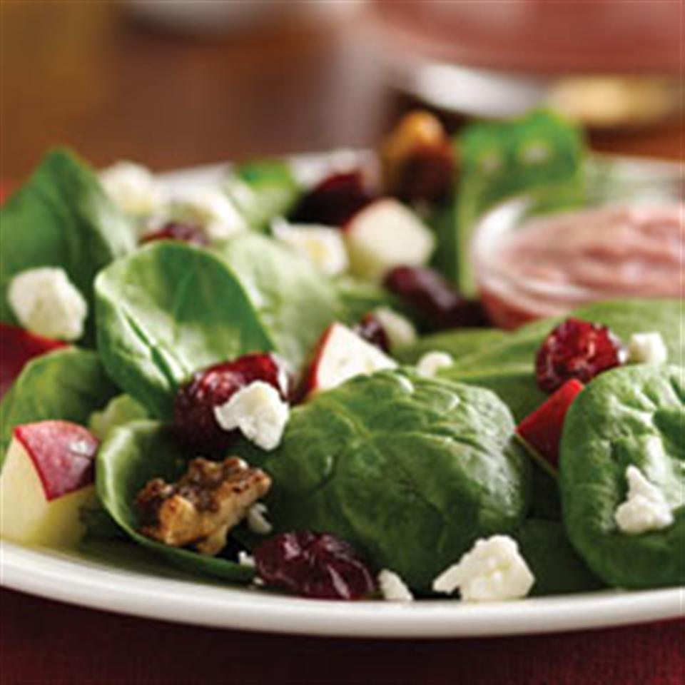 Spinach Salad with Pomegranate Cranberry Dressing Trusted Brands