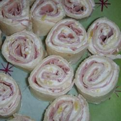 Ham and Pineapple Pinwheels Michelle Finley Baker