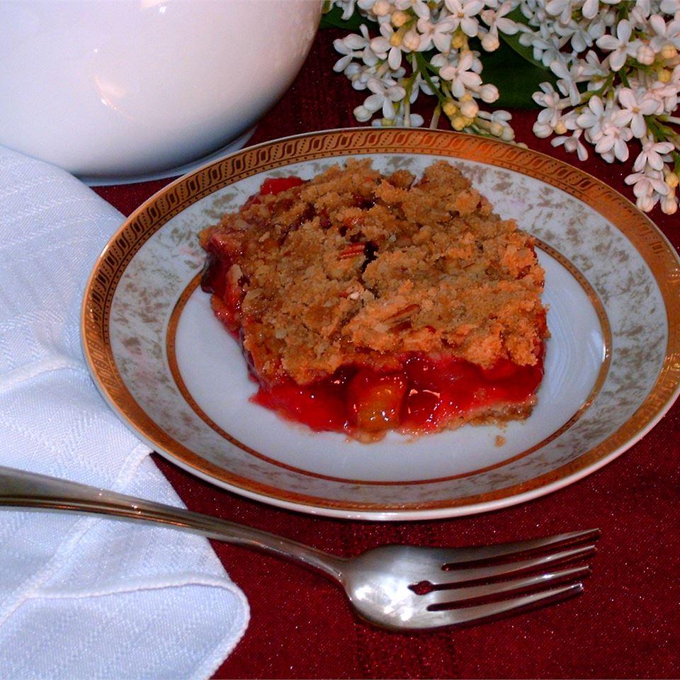 Rhubarb Cherry Crisp Kel