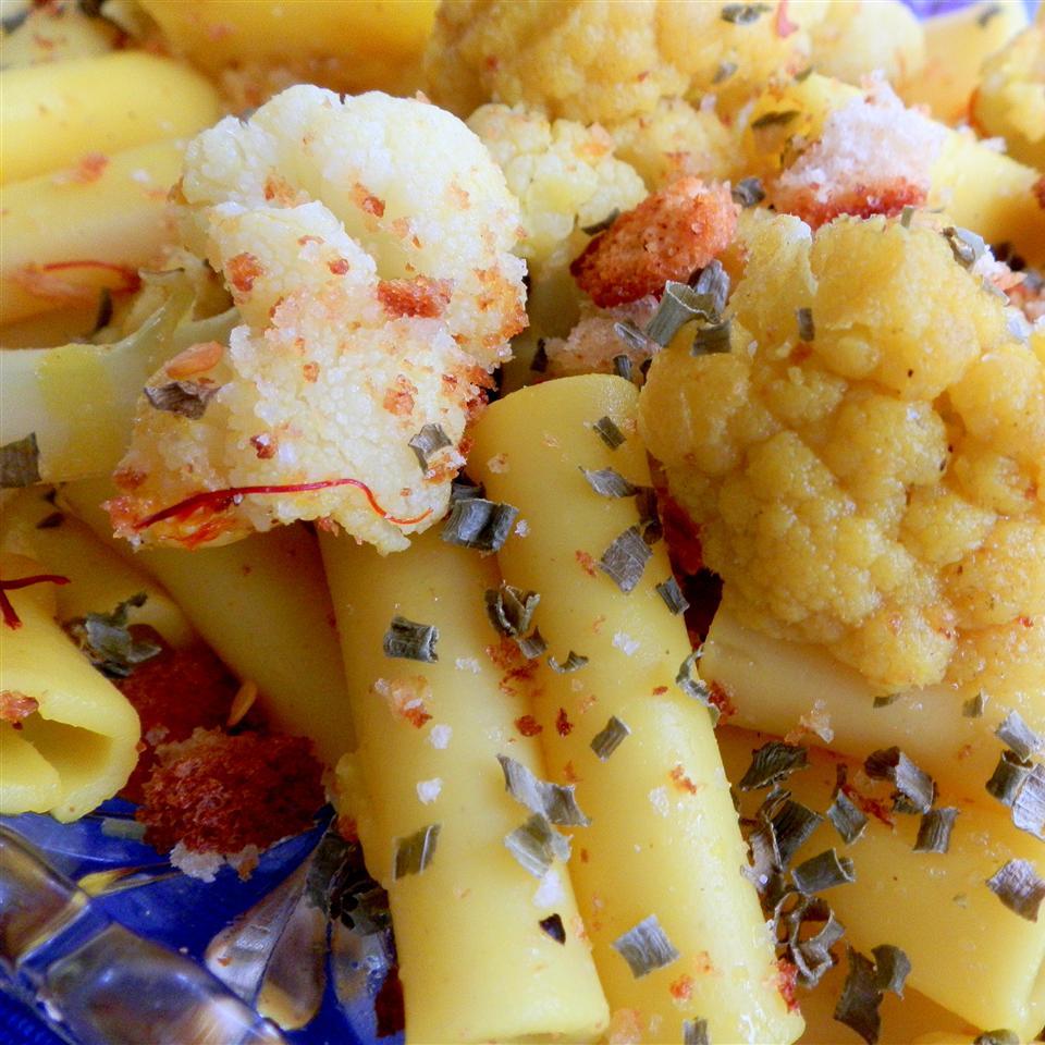 Saffron Scented Cauliflower Pasta Cindy Capps Lepp