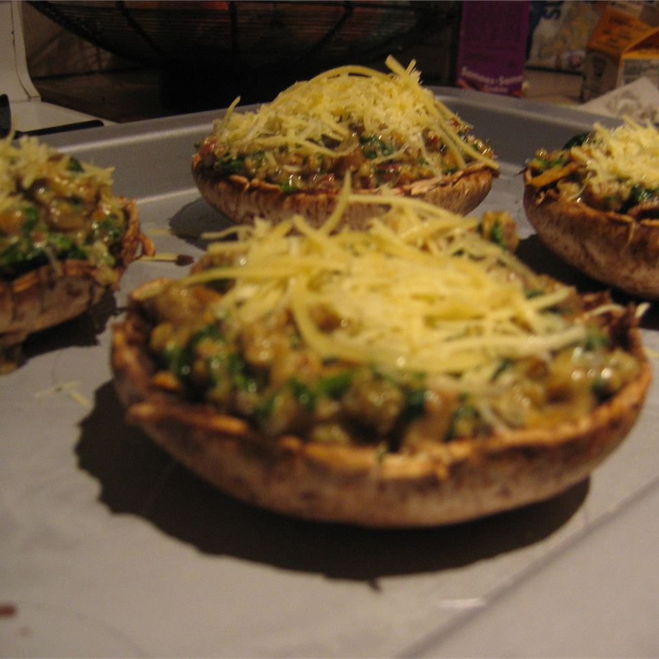 Stuffed Mushrooms with Spinach autumnbayes