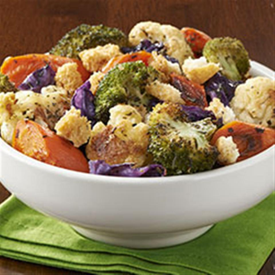 Herb Roasted Vegetables with Garlic Croutons Trusted Brands