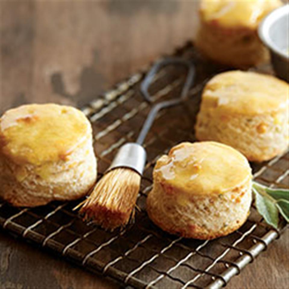 Sage & Cheddar Corn Meal Biscuits